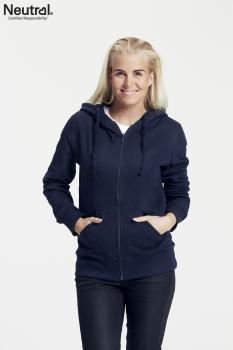 Neutral Ladies Zip Bio Hoodie